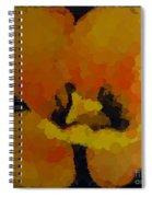 Polka Dot Yellow Blooming Tulip Spiral Notebook