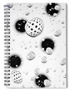 Polka Dots And Water Drops Spiral Notebook