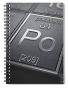 Polonium Chemical Element Spiral Notebook