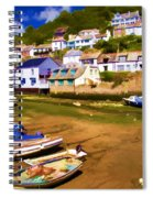Polperro At Low Tide Spiral Notebook