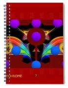 Polychrome Red Kimono Spiral Notebook