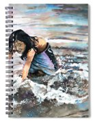 Polynesian Child Playing With Water Spiral Notebook