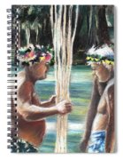 Polynesian Men With Spears Spiral Notebook