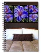 Polyptych Display Sample 01  Spiral Notebook