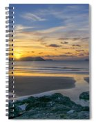 Polzeath Sunset 3 Spiral Notebook