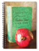 Pomegranate And Vintage Cook Book Still Life Spiral Notebook