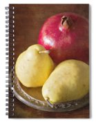 Pomegranate And Yellow Pear Still Life Spiral Notebook
