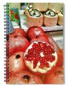 Pomegranates In Open Market Spiral Notebook