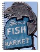 Pomona Fish Market Sign Spiral Notebook