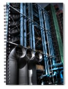 Pompidou Pipes Spiral Notebook