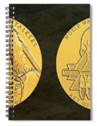 Ponca Tribe Code Talkers Bronze Medal Art Spiral Notebook