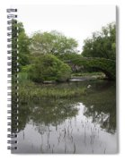 Pond And Bridge Spiral Notebook