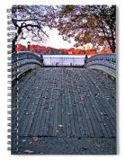 Pond Footbridge Spiral Notebook