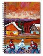 Pond Hockey Game 2 Spiral Notebook