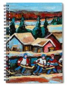Pond Hockey Game In The Country Spiral Notebook