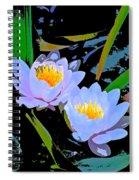 Pond Lily 17 Spiral Notebook