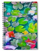 Pond Lily 5 Spiral Notebook