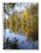 Pond Reflection At Limehouse Ontario Spiral Notebook