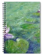 Green Pond With Water Lily Spiral Notebook