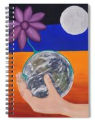 Pondering Creation Hand And Globe Spiral Notebook