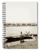 pont George V Bridge over Loire river Orleans Loire Valley France 1900 Spiral Notebook