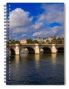Pont Neuf Over The Seine River Paris Spiral Notebook