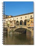 Ponte Vecchio Bridge In Florence Spiral Notebook