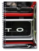 Pontiac Gto Front Spiral Notebook