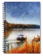 Pontoon Boat Photo Art 02 Spiral Notebook