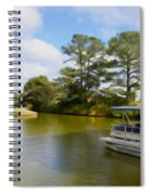 Pontoon Boat Ride On The Lake Spiral Notebook