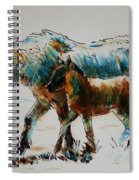 Pony And Foal Spiral Notebook