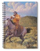 Pony Express Rider At Look Out Pass Spiral Notebook