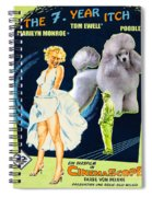 Poodle Art - The Seven Year Itch Movie Poster Spiral Notebook