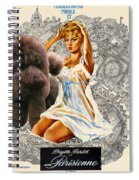 Poodle Art - Una Parisienne Movie Poster Spiral Notebook