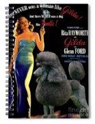 Poodle Standard Art - Gilda Movie Poster Spiral Notebook