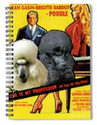 Poodle Standard Art - Love Is My Profession Movie Poster Spiral Notebook