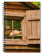 Pooh In The Attic Spiral Notebook