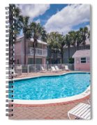 Pool And Cottages Spiral Notebook