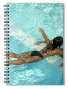 Pool Couple 9717b Spiral Notebook