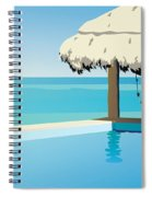 Pool On The Ocean Spiral Notebook