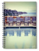 Pool With Views Of The Ocean Spiral Notebook