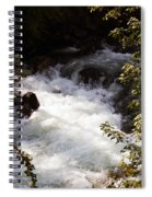 Pooling White Water Spiral Notebook