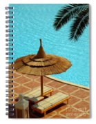 Poolside Relaxation Spiral Notebook
