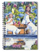 Poolside Tea I Spiral Notebook