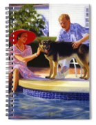 Poolside Thistle Down Spiral Notebook