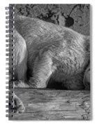 Pooped Puppy Bw Spiral Notebook
