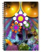 Pop Art Flower Spiral Notebook
