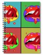 Pop Art Lips  Spiral Notebook