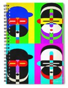 Pop Art People 4 2 Spiral Notebook