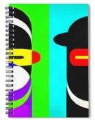 Pop Art People 4 Row Spiral Notebook